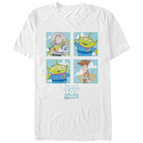 Pixar: Toy Story- Distressed Character Bloacks Shirt