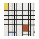 Composition with Yellow, Blue and Red Giclée-trykk av Piet Mondrian
