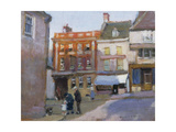 The Bull Hotel, Burford Giclee Print by Norman Garstin