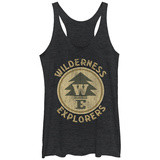 Juniors Tank Top: Pixar: Up- Wilderness Explorer Logo Womens Tank Tops