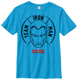 Youth: Captain America Civil War- Team Iron Man Emblem Shirts