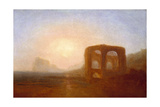 Seacoast with Ruin, Probably the Bay of Baiae Giclee Print by Joseph Mallord William Turner