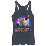 Juniors Tank Top: Pixar: Wall-E- Time To Recharge Tanktop