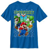 Youth: Super Mario- Heroic Trio T-shirts