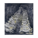 Tube Shelter Perspective Giclee Print by Henry Moore