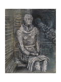 Woman Seated in the Underground Giclee Print by Henry Moore