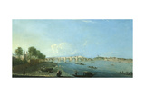 Westminster Bridge under Construction Giclee Print by Richard Wilson