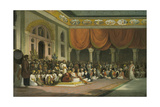 Sir Charles Warre Malet, Concluding a Treaty in 1790 in Durbar with the Peshwa Giclee Print by Thomas Daniell