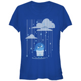 Juniors: Inside Out- Sad Rainstorm T-Shirt