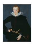 Portrait of a Man in a Slashed Black Doublet Giclee Print by William Segar