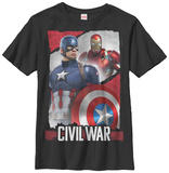 Youth: Captain America Civil War- Opposing Profiles T-Shirt