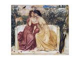 Sappho and Erinna in a Garden at Mytilene Giclee Print by Simeon Solomon
