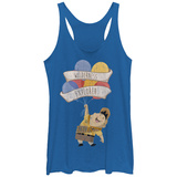 Juniors Tank Top: Pixar: Up- Wilderness Explorer Cheer Canotta