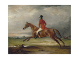 Major Healey, Wearing Raby Hunt Uniform, Riding with the Sedgefield Hunt Giclee Print by John Ferneley