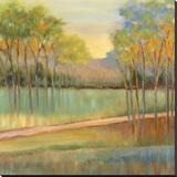Road Through Blue Fields Reproducción en lienzo de la lámina por Libby Smart