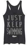 Juniors Tank Top: Finding Dory- Just Keep Swimming Canotta