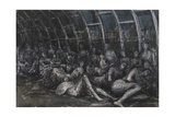 Shelterers in the Tube Giclee Print by Henry Moore