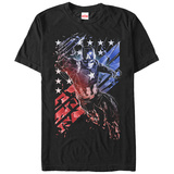 Captain America Civil War- Shattered Patriot T-shirts