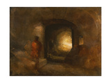 Figures in a Building Giclee Print by Joseph Mallord William Turner