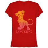 Juniors: Disney: The Lion King- Sunny Simba Fade T-Shirts