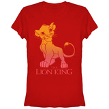 Juniors: Disney: The Lion King- Sunny Simba Fade T-shirts