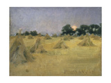 Haycocks and Sun Giclee Print by Norman Garstin