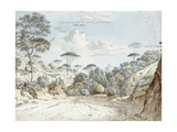 In the Road to Santa Maria De'Monti, Near Naples: Morning Giclee Print by Thomas Jones
