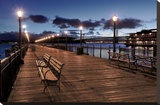 Broadway Pier 22 Stretched Canvas Print by Alan Blaustein