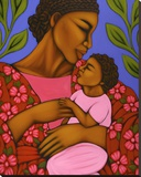 African Mother and Baby Stretched Canvas Print by Tamara Adams