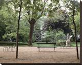 Banc de Jardin 10 Stretched Canvas Print by Alan Blaustein