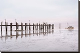 Antique Pier 103 Stretched Canvas Print by Alan Blaustein