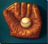 Baseball Mitt I Stretched Canvas Print by TR Colletta