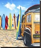 Beach Cruiser Kids Stretched Canvas Print by Scott Westmoreland