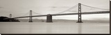 Bay Bridge Pano 1 Stretched Canvas Print by Alan Blaustein