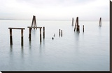 Antique Pier 79 Stretched Canvas Print by Alan Blaustein