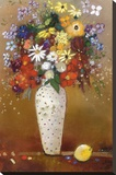 After Redon Stretched Canvas Print by Aleah Koury
