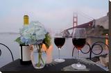 Dream Cafe Golden Gate Bridge 13 Stretched Canvas Print by Alan Blaustein