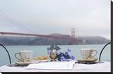 Dream Cafe Golden Gate Bridge 54 Stretched Canvas Print by Alan Blaustein