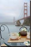 Dream Cafe Golden Gate Bridge 42 Stretched Canvas Print by Alan Blaustein