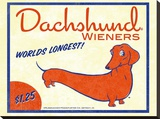 Dachshund Wieners Stretched Canvas Print by Brian Rubenacker