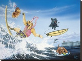 Diva Dawgs Stretched Canvas Print by Scott Westmoreland