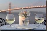 Dream Cafe Golden Gate Bridge 79 Stretched Canvas Print by Alan Blaustein