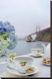Dream Cafe Golden Gate Bridge 12 Stretched Canvas Print by Alan Blaustein