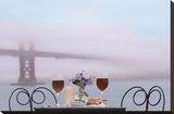 Dream Cafe Golden Gate Bridge 59 Stretched Canvas Print by Alan Blaustein