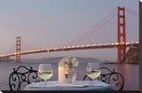 Dream Cafe Golden Gate Bridge 77 Stretched Canvas Print by Alan Blaustein