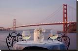 Dream Cafe Golden Gate Bridge 78 Stretched Canvas Print by Alan Blaustein