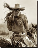 Cowgirl Stretched Canvas Print by Lisa Dearing