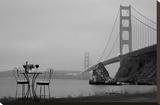Dream Cafe Golden Gate Bridge 36 Stretched Canvas Print by Alan Blaustein