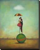 Circus Romance Opspændt lærredstryk af Duy Huynh