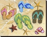 Flip Flop Family Stretched Canvas Print by Scott Westmoreland